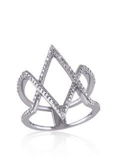 Belk  Co.  Diamond Kite Ring in Sterling Silver
