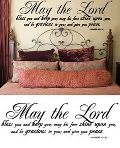 Scripture Wall Decal... I want this in white to put over my baby's crib.