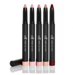 YES-Elf : Matt lipsticks. my new fav! I love the matte look, and I don't need to  use lip liner with it, it does it all!