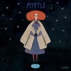 Ilustraciónanimada deMyrtle Snow, deAmerican Horror Story, Coven.