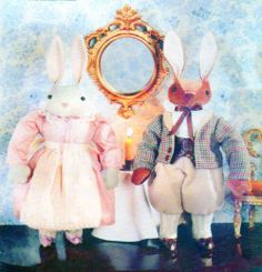Victorian Easter Bunny Sewing Pattern 12 by FindCraftyPatterns, $10.00