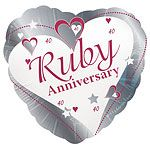 Buy Pearl Anniversary Wishes Foil Balloon from TigerFeet Party. Enjoy a dazzling anniversary celebration with this beautiful foil balloon. Pearl Anniversary, Ruby Wedding Anniversary, Anniversary Parties, Anniversary Ideas, Foil Balloons, Love Heart, Wedding Accessories, Heart Shapes, Party Supplies