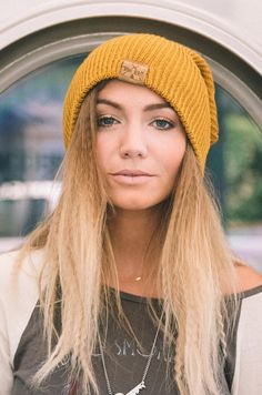 Road Tripper / Mustard #beanie #hat #headpiece