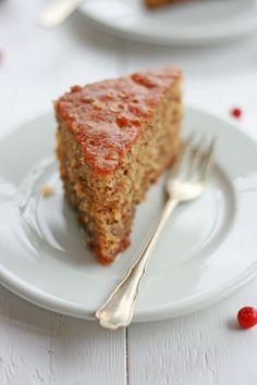 """Karydópita"" - Greek traditional spiced walnut cake soaked in syrup"