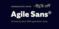 Agile Sans Font: Agile Sans is a contemporary humanist font family with classicist roots. Hence its name, Agile Sans suits many occasions from branding . Humanist Font, Font Family, Sans Serif, Desktop, Fonts, Branding, Image, Designer Fonts, Brand Management