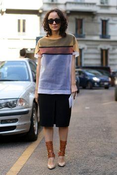 Best Street Style at Milan Fashion Week Spring 2014   POPSUGAR Fashion