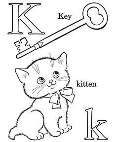 Activity sheets  Alphabet Coloring pages - Letter K