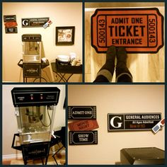 Great idea for movie nights in the basement! This is from the home of @Leslie Gustafson!