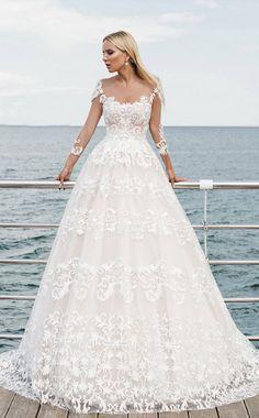 Courtesy of Oksana Mukha Wedding Dresses; www.oksana-mukha.com; Wedding dress idea.