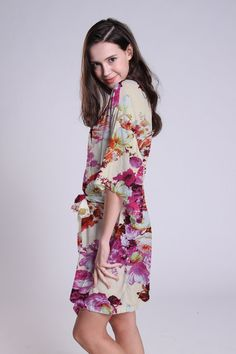 Bridesmaid robes floral robes Bridesmaids gifts Bridal by ForBride