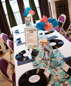 Great Idea, but I don't want to by all those records...... Look how darling this is for a 50's party!!!