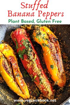 Stuffed Banana Peppers Recipe (Indian style) Recipes With Banana Peppers, Stuffed Banana Peppers, Gluten Free Recipes, Vegan Recipes, Cooking Recipes, Ghee Butter, Food Categories, Kid Friendly Meals, Other Recipes