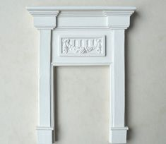 """An image of A small bedroom fireplace. It can be used with  brickback BB1 or insert INS D. Internal opening 2 3/8h x 1 3/4""""w, 60h x 44mm ..."""
