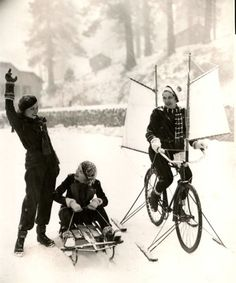 Lona Andre, Verna Hillie and Gail Patrick enjoy the winter time in a photo found on Keirin Berlin.