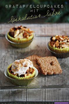 bratapfel cupcakes mit spekulatius sahne
