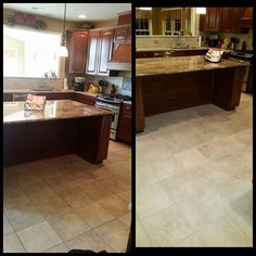 Job in mulica hill, nj #nj #philadelphia #pa #holidaygift #groutcleaning #groutsealing #grout color #beforeandafter  #kitchenfloor #tilefloor #tilecleaning #grout