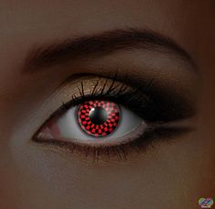 i-Glow red and Black Checkers Eye Accessories (Pair)