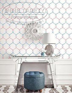 Ogee Trellis Wallpaper from L'Atelier de Paris Wallpaper Book by Seabrook. Trellis Wallpaper, Pattern Wallpaper, Wallpapering Tips, Modern Wallpaper Designs, Paris Wallpaper, Burke Decor, A 17, Decoration, Indoor