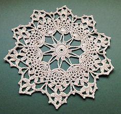 Country Starlet pattern by Patrizia Pisani Country Starlet Doily. Free Crochet Doily Patterns, Crochet Art, Crochet Squares, Thread Crochet, Filet Crochet, Irish Crochet, Crochet Motif, Crochet Designs, Crochet Crafts