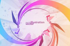 Colorful abstract vector background by majcot on @creativemarket
