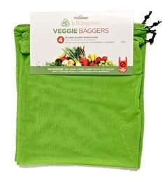 Eco-Friendly Reusable Veggie Bags--I need this I hate using those plastic grocery bags for veggies Green Life, Go Green, Eco Friendly Cleaning Products, Eco Products, Sustainable Products, Household Products, Household Cleaners, Produce Bags, Reusable Bags