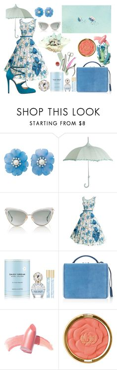 """""""Daydreaming"""" by giselsimon ❤ liked on Polyvore featuring Gray Malin, Dita, Marc Jacobs, Elie Saab, Mark Cross, Elizabeth Arden and Milani"""
