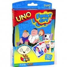 """Anime Allstars ~ #FamilyGuy UNO Game  All the fun of #UNO, #PeterGriffin-style!     Awesome cards for the talking babies and dogs in your life!   Hours of gaming fun!  UNO gets you into the charming yet savage world of Family Guy! Join Peter, Brian, Stewie, and the entire cast! Don't forget to yell """"Uno!"""" when you're down to one card - it's the only way to win!"""