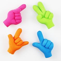 Emoji Hand Shape Pencil Toppers Erasers Novelty Fun Kids Rubbers Party Gift Bag Fillers