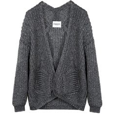 Merveille cardigan ❤ liked on Polyvore featuring tops, cardigans, sweaters, outerwear, jackets, chunky knit cardigan, layered tops, print top, open cardigan and cardigan top
