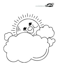 sun with clouds coloring page krokotak print printables for kids