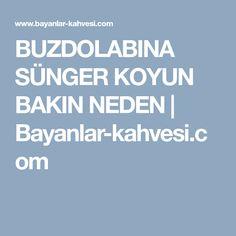 BUZDOLABINA SÜNGER KOYUN BAKIN NEDEN | Bayanlar-kahvesi.com