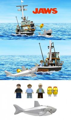 LEGO Jaws Anniversary Set - they should make this!