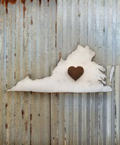 Take a look at this I Heart Virginia State Map Wall Art by Slippin' Southern on #zulily today!
