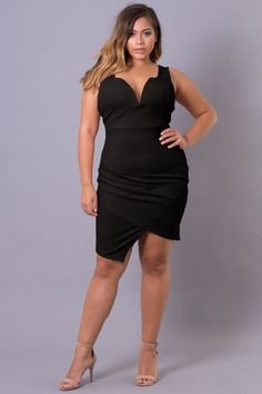 Plus Size Anything For You Dress - Black