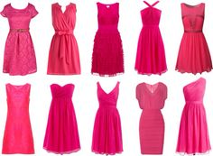 A lot of pink pretty dresses!!!!