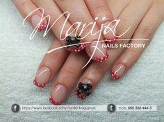 Bow with dots by marija7 - Nail Art Gallery nailartgallery.nailsmag.com by Nails Magazine www.nailsmag.com #nailart