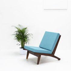 50er Jahre Easy Chair/ Sessel, karibikblau von The Hunter – Select Vintage Goods auf DaWanda.com