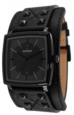 2f124d1d6 (Limited Supply) Click Image Above: Axcent Unisex Spike Stainless Watch -  Black Leather Strap - Black Dial -. Watch Zone · Hodinky Axcent of  Scandinavia