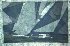 Racing Wind 2 - Batik - 12x18 in - 1/4/2013 - Kevin Houchin