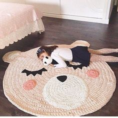 Irresistible Crochet a Doll Ideas. Radiant Crochet a Doll Ideas. Crochet Mat, Crochet Rug Patterns, Crochet Carpet, Crochet For Kids, Round Rug Nursery, Nursery Rugs, Nursery Decor, Roses Au Crochet, Rose Carpet