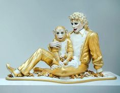 "Jeff Koons -  ""Michael Jackson and Bubbles""  Medium: Porcelain"