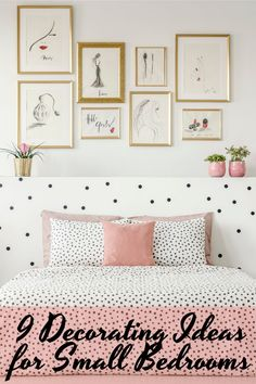 9 Decorating Ideas for Small Bedrooms | This post is all about tips and tricks to decorating a small bedroom on a budget. |