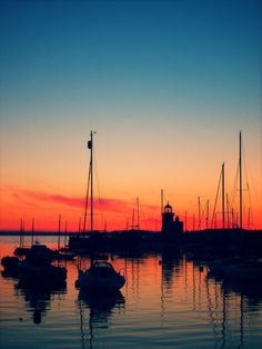 Passion is sensual. Sunset and sailing.