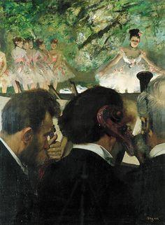 Edgar Degas, Musiciens à l'orchestre 1870/71