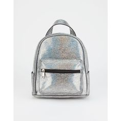 Violet Ray Iza Metallic Mini Backpack ($9.99) ❤ liked on Polyvore featuring bags, backpacks, miniature backpack, mini bag, faux-leather backpacks, backpack bags and mini rucksack