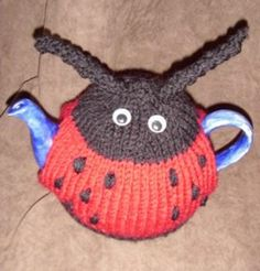 LADYBIRD TEA COSY hand knitted tea cosy in form of Ladybird for small or Large teapot sizes on Etsy, $13.61