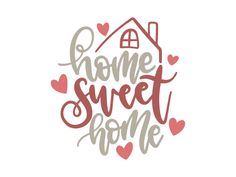 Free home sweet home svg file for cutting machines, such as silhouette and cricut. Make some cute projects for yourself or a friend with this free home svg file. Put it on a pillow, tea towels, print as a printable, make signs and Free Font Design, Sweet Home, Svg Files For Cricut, Cricut Htv, Home Free, Printable Paper, Interior Design Living Room, Embroidery Patterns, Projects To Try