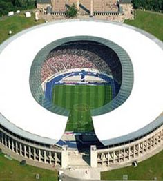 the olympic stadium in Berlin. Hertha Berlin v Frankfurt Soccer Stadium, Football Stadiums, Soccer Skills, Soccer Tips, Olympic Venues, Olympic Games, Helsinki, Countries Around The World, Around The Worlds