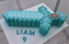 Minecraft Diamond Sword cake by Piper Cakes