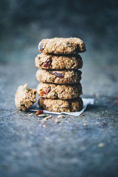 Breakfast Cookies // oats, chia, white beans, cinnamon, orange, applesauce, dried apricots, raisins, pumpkin seeds